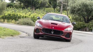 Maserati GranTurismo coupe front cornering