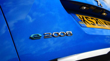 Peugeot e-2008 SUV rear badge