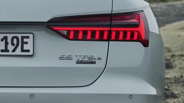 Audi A6 Avant plug-in hybrid badge