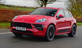 Porsche Macan SUV front 3/4 tracking