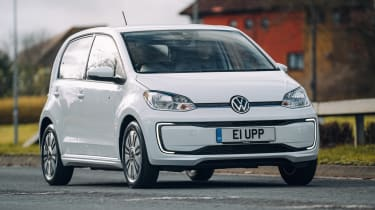 Volkswagen e-up driving