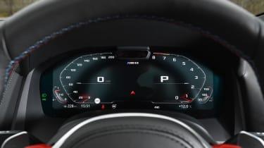 BMW M8 Convertible instrument display