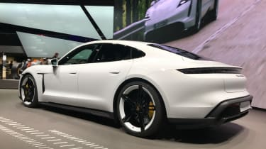 Porsche Taycan - Rear 3/4 at Frankfurt