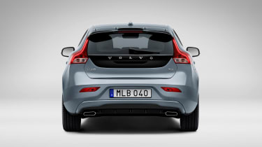 The distinctive rear hatch treatment harks back to the V40's illustrious forebear, the P1800ES