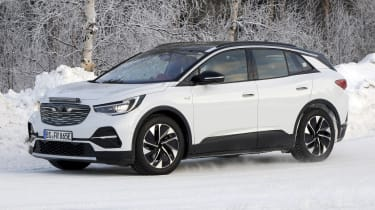 2021 Volkswagen ID.4 SUV - winter testing front 3/4 passing