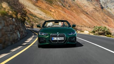 2020 BMW 4 Series Convertible driving - front end