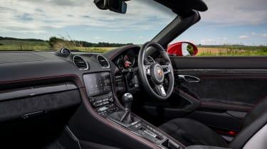 Porsche 718 Boxster convertible interior