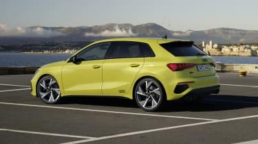2020 Audi S3 Sportback side/rear view