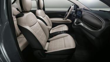 2020 Fiat 500 electric convertible - interior