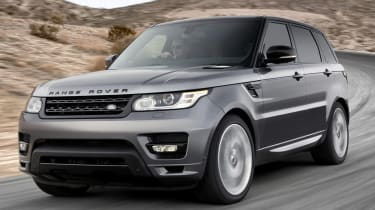 Range Rover Sport 2013 front quarter on road