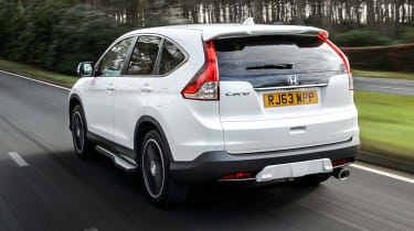 Honda CR-V SUV 2014 White Edition rear tracking
