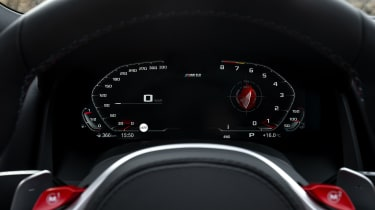 BMW M8 Competition convertible - digital dial cluster