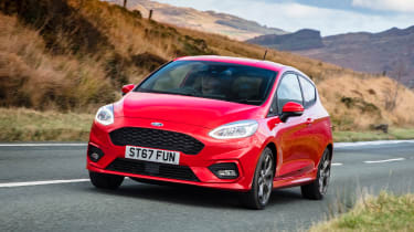 Ford Fiesta hatchback front driving