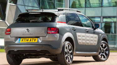 The C4 Cactus also has SUV design cues like roof rails, prominent wheelarches and raised suspension