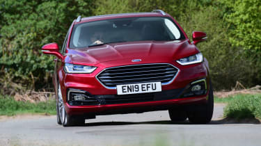 Ford Mondeo hybrid cornering action