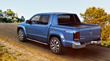 The Amarok leans heavily in corners but it always feels safe and predictable