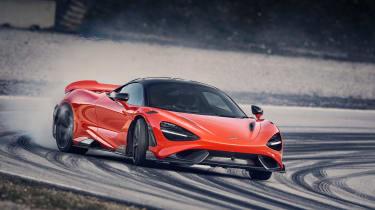 McLaren 765LT - front 3/4 drift on track