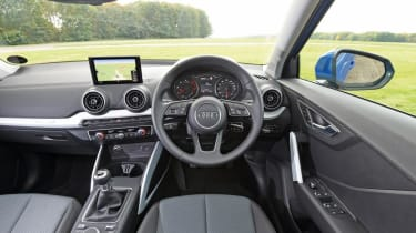 Inside, the Audi Q2 offers everything you'd expect of a small Audi.