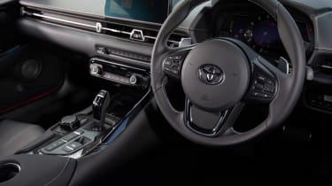 Toyota Supra coupe steering wheel