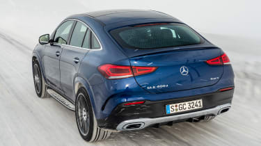 Mercedes GLE Coupe SUV rear tracking