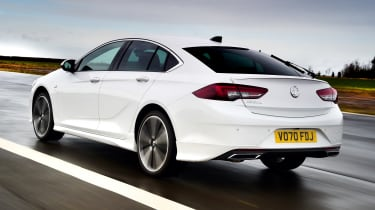 Vauxhall Insignia hatchback rear 3/4 tracking
