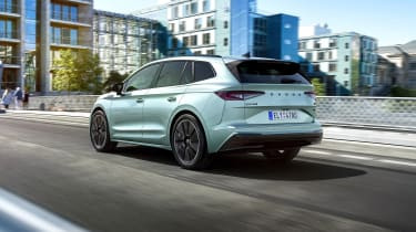 2021 Skoda Enyaq iV - rear 3/4 dynamic