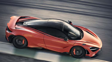 McLaren 765LT  - passing track view