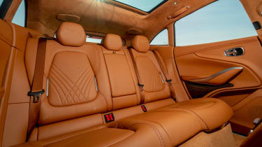 Aston Martin DBX SUV rear seats