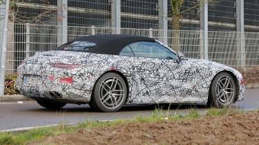 2021 Mercedes SL prototype - side/rear view