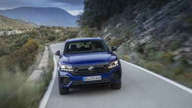 Volkswagen Touareg R driving - front view
