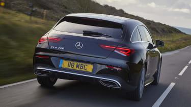 Mercedes CLA Shooting Brake driving - rear view