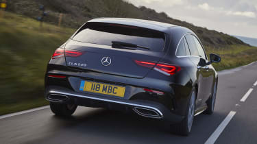 Mercedes CLA Shooting Brake driving - rear view