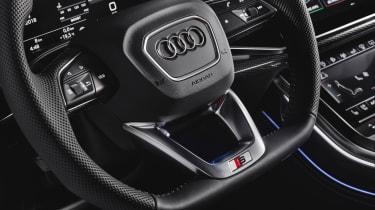 Audi SQ8 SUV steering wheel