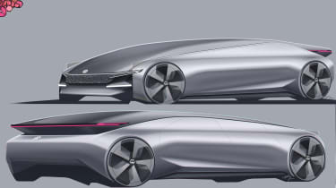 Qinqyi Meng – Qinqyi's concept took inspiration from the I.D concept with simple lines blending the traditional silhouettes of both saloons and coupes.