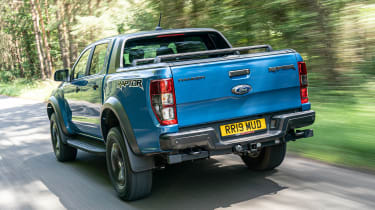 Ford Ranger Raptor pickup rear 3/4 tracking