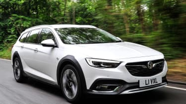 The Vauxhall Insignia Country Tourer is an estate that's been given an SUV-like makeover, with plastic body cladding and high