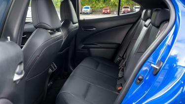 Lexus UX 300e SUV rear seats
