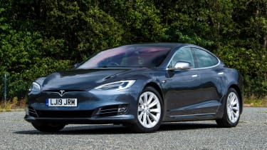 Tesla Model S saloon front 3/4 static