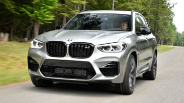 BMW X3 M Competition SUV front tracking