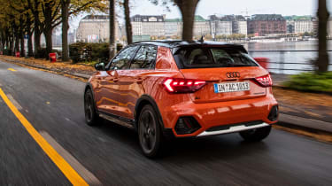 Audi A1 Citycarver hatchback rear 3/4 action