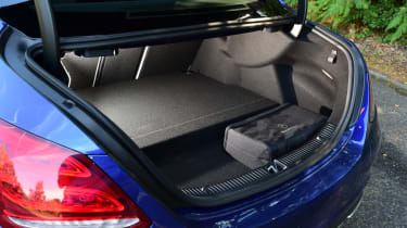 The major flaw of the C350e is its small boot, with space restricted by the battery pack