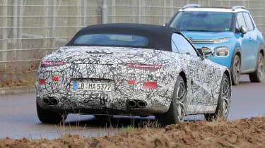 2021 Mercedes SL development model - rear