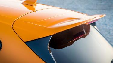 Ford Focus ST hatchback boot spoiler