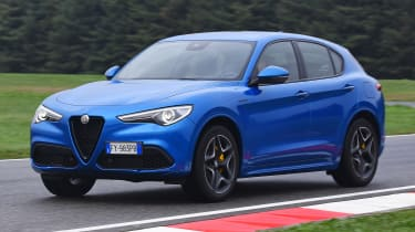 Alfa Romeo Stelvio SUV on track