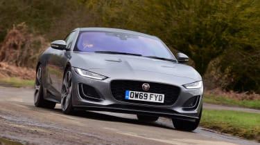 Jaguar F-Type coupe front cornering