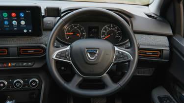 Dacia Sandero Stepway hatchback dash closeup