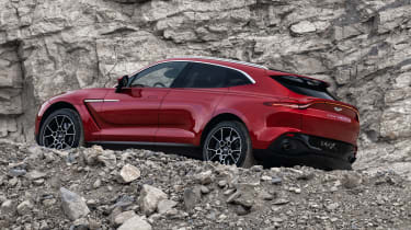 Aston Martin DBX rear side view