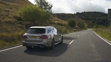 Mercedes C-Class Estate rear driving