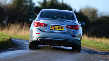 Firm suspension also means the Infiniti Q50 is sharp to drive, although steer-by-wire takes away some driving feel