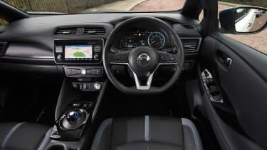 nissan leaf hatchback interior